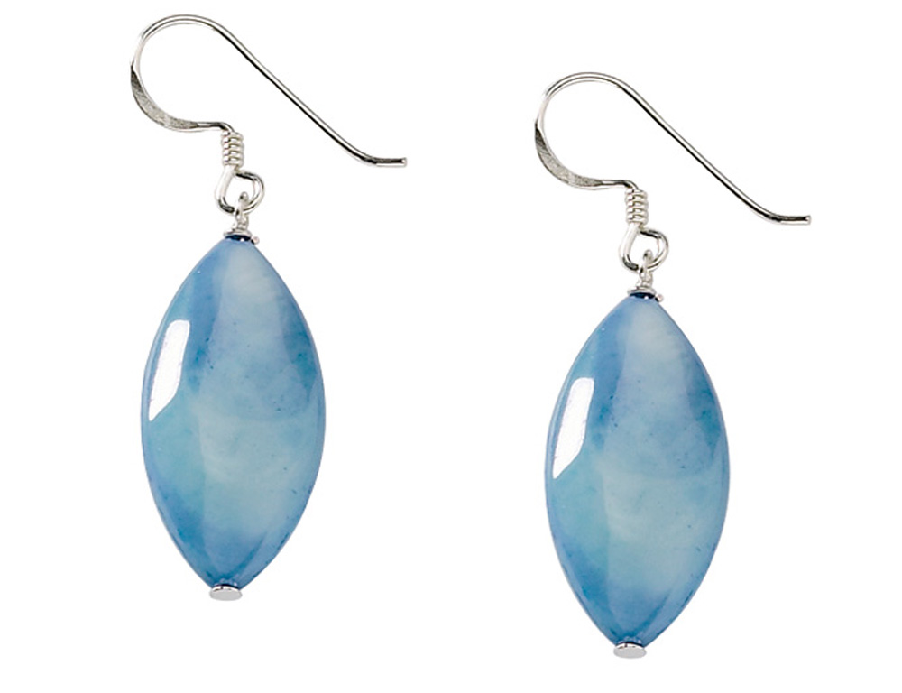 Mother of pearl jewelry blue