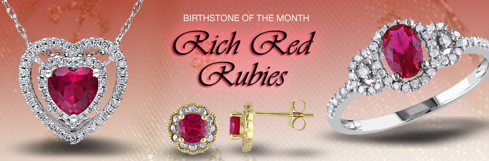 Rich Red Ruby Jewelry Birthstone July