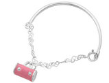 Junior Enameled Purse Charm Bracelet in Sterling Silver