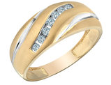 Mens Diamond Wedding Band 1/4 Carat (ctw) in 10K Yellow Gold