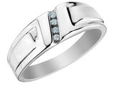 Mens Diamond Wedding Band 1/20 Carat (ctw) in 10K White Gold