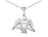 Eagle Pendant Necklace in Sterling Silver with Chain