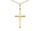 Large Cross Pendant Necklace in 14K Yellow Gold with Chain
