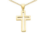 Cross Pendant Necklace in 14K Yellow Gold with Chain