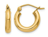 Small Hoop Earrings in 14K Yellow Gold 1/2 Inch (3.00 mm)