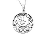 'Children' Pendant Necklace in Antiqued Sterling Silver with Chain