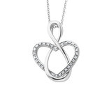 'Lifetime Friend' Pendant Necklace in Sterling Silver with Synthetic Cubic Zirconia