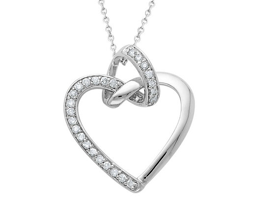 'Friendship Promise' Heart Pendant Necklace in Sterling Silver with Chain