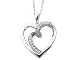 'Soulmate' Heart Pendant Necklace in Sterling Silver with Chain