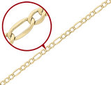 Figaro Chain Necklace in 14K Yellow Gold 24 Inches (7.30 mm)