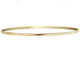 14K Yellow Gold Polished Half Round Slip On Bangle Bracelet (2.00 mm)