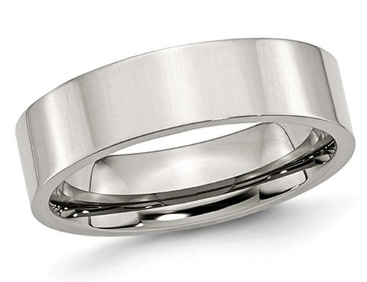 Men's Chisel 6mm Stainless Steel Comfort Fit Wedding Band