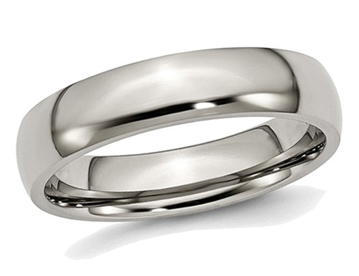 Bridal Titanium Ridged Edge Weave Design 6mm Polished Band