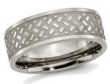 Men's Titanium Weave 8mm Polished Wedding Band