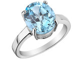 9x11mm Blue Topaz Ring 3.50 Carat (ctw) in Sterling Silver