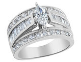 Diamond Marquise Engagement Ring 2.0 Carat (ctw) in 14K White Gold