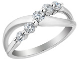 4/5 Carat (ctw) Diamond Anniversary Ring Band 1/2 Carat (ctw) in 14K White Gold