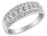 Diamond Anniversary Ring Band 3/4 Carat (ctw I1-I2) in 14K White Gold