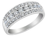 Diamond Anniversary Ring Band 3/4 Carat (ctw I1-I2) in 14K White Gold