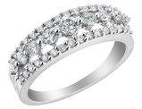 Diamond Cocktail Ring 3/4 Carat (ctw H-I, I1) in 14K White Gold