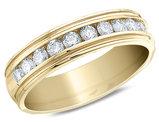 1/4 Carat (ctw SI2-I1, H-I) Men's Diamond Wedding Band in 14K Yellow Gold