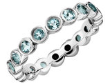 Aquamarine Ring 1.10 Carat (ctw) in Sterling Silver