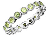 Green Peridot Ring 1.35 Carat (ctw) in Sterling Silver