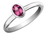 Pink Tourmaline Ring 2/5 Carat (ctw) in Sterling Silver