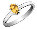 Citrine Ring 2/5 Carat (ctw) in Sterling Silver