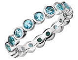 Blue Topaz Ring 1.60 Carat (ctw) in Sterling Silver