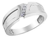 Men's 1/7 Carat (ctw H-I, I1-I2) Diamond Wedding Band in 14K White Gold