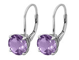 Amethyst Earrings 2.00 Carat (ctw) in Sterling Silver