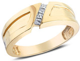 Men's Diamond Wedding Band 1/7 Carat (ctw) in 14K Yellow Gold