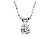 1/2 Carat (ctw H-I, I2-I3) Diamond Solitaire Pendant Necklace in 14K White Gold with Chain