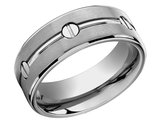 Men's 8mm Satin Comfort Fit Wedding Band in Titanium