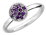 Ladies Stackable Amethyst Ring 1/5 Carat (ctw) in Sterling Silver
