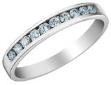 Diamond Wedding Band and Anniversary Ring 1/5 Carat (ctw) in 14K White Gold