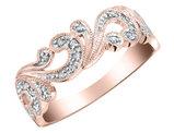 Diamond Ring 1/10 Carat (ctw) in 10K Pink Gold