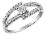 Diamond Engagement Ring 1/2 Carat (ctw I2-I3, J-K) in 14K White Gold