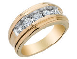 Mens Diamond Wedding Band 1.0 Carat (ctw I1-I2) in 14K Yellow Gold