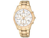 Ladies Citizen Eco Drive Watch in Stainless Steel with Rose Gold Tone (FB1153-59A)