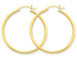 Hoop Earrings in 10K Yellow Gold 1 inch (1 mm)