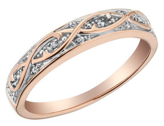 Diamond Ring in 10K Rose Pink Gold