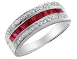 Ruby Ring with Diamonds 1/2 Carat (ctw) in 10K White Gold