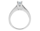 1/2 Carat (ctw H-I, I1-I2) Princess Cut Diamond Engagement Ring in 14K White Gold