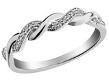 Diamond Ring 1/10 Carat (ctw) in 10K White Gold