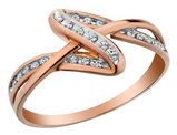 Accent Diamond Ring in 10K Rose Pink Gold