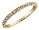 Diamond Milgrain Band 1/10 Carat (ctw) in 10K Yellow Gold