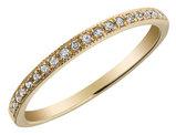 Diamond Milgrain Band 1/10 Carat (ctw) in 10K Yellow Gold