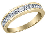 3/4 Carat (ctw H-I, I1-I2) Princess Cut Diamond Wedding Anniversary Band in 14K Yellow Gold